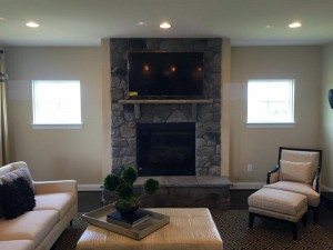 Flat Screen Fireplace Mount- Frederick MD Home Automation